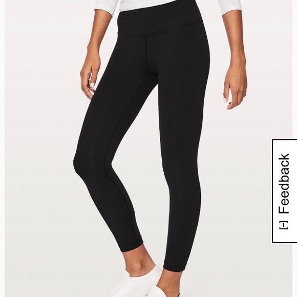 81464021028bac lululemon athletica Pants - Black Wunder Under High-Rise 7/8 Tight Luxtreme  25
